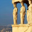 The ancient Porch of Caryatides in Acropolis, Athens, Greece — Stock Photo