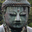 Stock Photo: Face close-up of Daibutsu in Kamakura