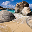 Beautiful Landscape on Tortola beach — Stock Photo