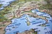 欧洲地图的详细信息 — 图库照片