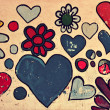 Love symbol, shapes of heart painted on wall — Stock Photo #19942173