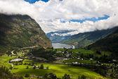 Fiord geiranger, norwegia z statek wycieczkowy — Zdjęcie stockowe