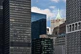 Lower Manhattan Skyline and Skyscrapers — Stock Photo