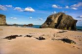 Spiaggia bermuda durante una calda giornata estiva — Foto Stock