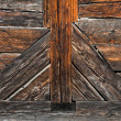 Stock Photo: Old wooden pattern