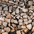 Firewood logs in a pile — Stock Photo