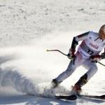 festival d'hiver Brasov Roumanie - jeunesse européenne olympique - 2013. jeune skieur lors d'une compétition de slalom — Photo