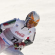 BRASOV ROMANIA - European youth Olympic - Winter festival 2013. Young ski racer during a slalom competition. — 图库照片