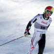 BRASOV ROMANIA - European youth Olympic - Winter festival 2013. Young ski racer during a slalom competition.  — Stockfoto