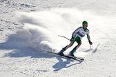 布拉索夫罗马尼亚-欧洲青年奥林匹克-冬季节日 2013年。在激流回旋比赛中年轻滑雪赛. — 图库照片