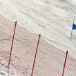 Ski gates with red and blue flags — Stok fotoğraf