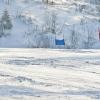 Ski gates with red and blue flags — ストック写真 #21899073