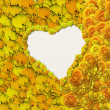 Heart shape background with flowers - Foto Stock