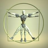 Modern Vitruvian Man — Stock Photo