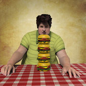 Man Looking Burgers — Stock Photo