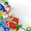 Abstract background with gifts — Stock fotografie