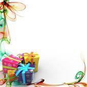 Fondo abstracto con regalos — Foto de Stock