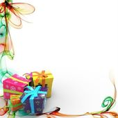 Abstract background with gifts — Stock Photo