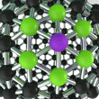 Stock Photo: Atom Structure