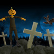 Halloween Party with Zombie and Skeleton — Stock Photo #19805949
