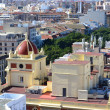 Aerial view Malaga — Stock Photo