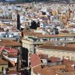 Aerial view Malaga — Stock Photo