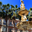 Stock Photo: Detail fountain, Constitution PlazMalaga