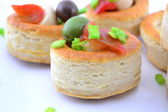 Canapes ready to serve — Stock Photo