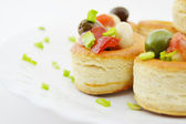 Canapes ready to serve — Foto Stock