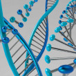 DNA molecules — Stockfoto