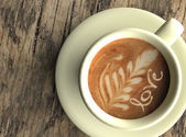 Coffee cup with written — Stock Photo