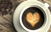 Coffee with heart — Stockfoto