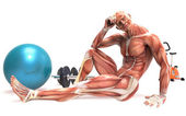 Ludzkie ciało robi sport — Zdjęcie stockowe