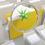 Scan for viruses — Stock Photo