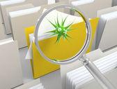Vyhledávání virů — Stock fotografie