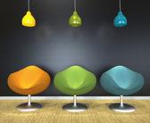 Moderní salonek židle — Stock fotografie
