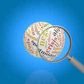 Magnifying glass looking for work — Stock Photo