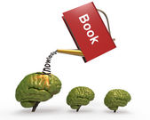 Drizzle with brain book — Stock Photo