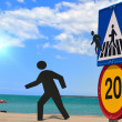 Stock Photo: Crosswalk at beach