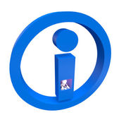 3d small - info icon — 图库照片