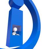 3d small - info icon — Stock Photo