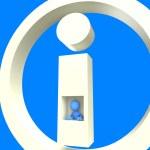 3D pequeño - icono de información — Foto de Stock   #27447267