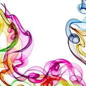Fundo com fumaça colorida do arco-íris — Foto Stock