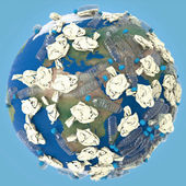World - Plastic Pollution — Stock Photo