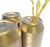 Beer cans oxidized — Stock Photo