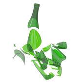 Bottiglia di vetro rotto — Foto Stock