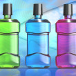Three Mouthwash Bottles — Stock Photo