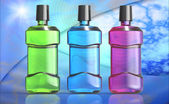 Three Mouthwash Bottles — Foto de Stock