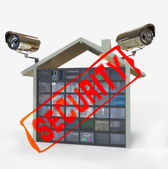 Surveillance camera's systeem — Stockfoto