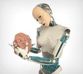 Reka robota z mózgu — Zdjęcie stockowe